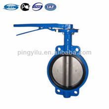 Russian standard wafer type cast iron butterfly valve dn100