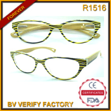 R1516 Hotsale Fashion Bamboo Temples Reading Glasses Made in China