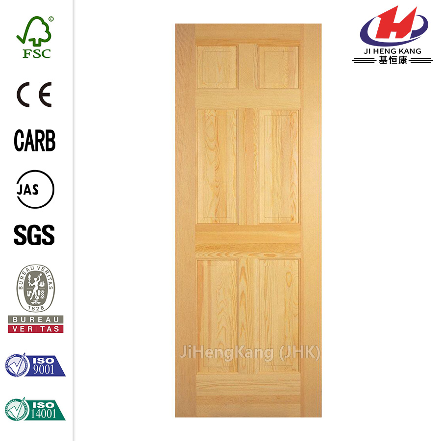 30in Fir 6-Panel Interior Door Slab