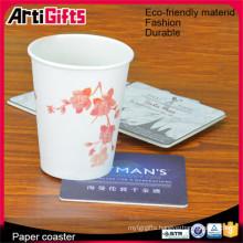 2015 Custom absorbent paper pulp board coasters