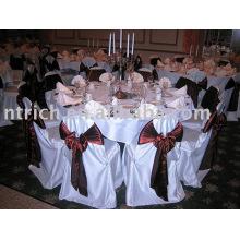 Couverture de chaise de satin, satin sash, couverture de chaise de Banquet/hôtel/mariage