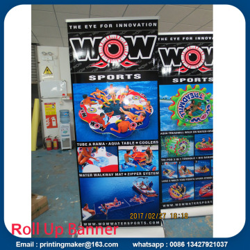 Deluxe Wide Base Single-Screen Roll Up Banner Stativ
