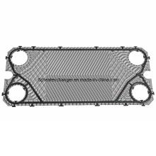 Placa de intercambiador de calor para agua de refrigeración (igual a M10B / M10M)
