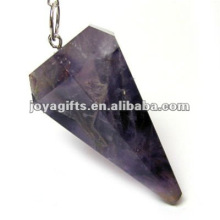Péndulo de piedra amatista