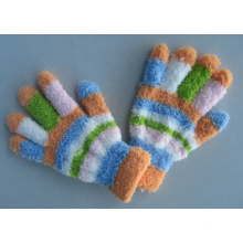 10g Acrylic Liner Mixed Color Stripe Fashion Glove