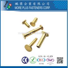 Fabriqué en Taiwan Steel Stainless Steel Copper Color Pop Special DIN 7337 aveugle Flat Head Rivet