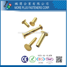 Made in Taiwan Steel Stainless Steel Copper Color Pop Special DIN 7337 Blind Flat Head Rivet