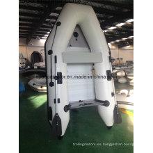 Casco PVC Material bote inflable con Motor fuera de borda