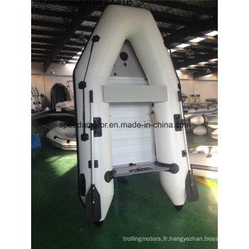 Coque PVC matériel bateau gonflable avec moteur hors-bord