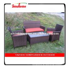 Shinyagrden Kissen Sitz Garten Terrasse Rasen Schnitt Couch Wicker Möbel Set Outdoor PE Kaffee