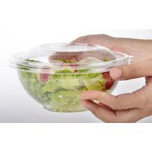 Bol de salade claire jetable de haute qualité avec couvercle