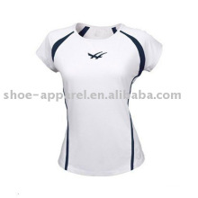 Wholesale wicking moisture women tennis shirts