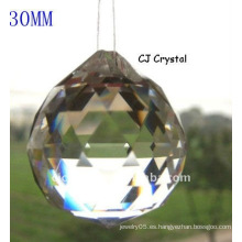 30MM Colgante claro de la bola de cristal, granos de la bola cristalina