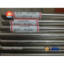 Alliage 600 UNS N06600 Inconel 600 tubes