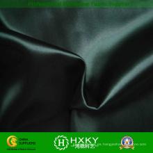 Tela de satén suave de poliéster color negro para vestido de noche