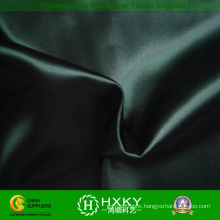 Black Color Polyester Soft Satin Fabric for Evening Dress