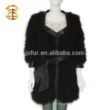 2017 Factory Wholesale Manteau fait sur commande d'agneau Manteau réel de fourrure