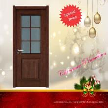 Promoción Navidad chapa puertas color madera con cristal