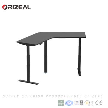 popular three motors office table 120 degree height adjustable electric office desk