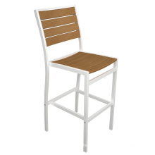 Natural Color Silver Powder Coated High Wood Furniture Bar Stool Wooden