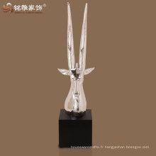sculpture décorative en résine de sculpture de tête d'antilope décorative avec haute qualité