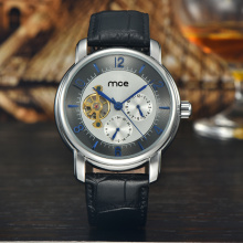 custom leather branded men wrist watch