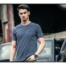 2016 Moda em torno do pescoço 100% algodão Jersey Men's T-Shirt