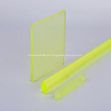 Gelbe transparente Polyurethan-PU-Platte