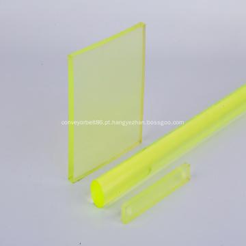Folha amarela transparente de poliuretano pu
