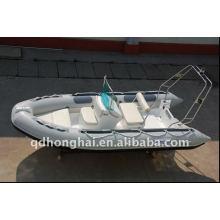 Yacht à grande vitesse en fibre de verre bateau gonflable côtes 4,2 m