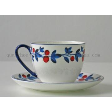 Custom High Quality Afternoon Tea Ceramic Cup with Saucer