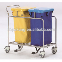 Carro de la basura del hospital