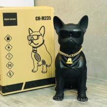 CH-M235 Cool Big Dog Shape Full-body Bulldog Good Bass Bt Speaker Box Portable Wireless Speaker