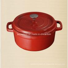 Distributeur de casserole en fonte d'émail 5.5L en Chine Dia 26cm