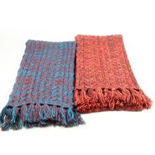O inverno de lãs morno unisex acrílico costura o lenço feito malha pesado das franjas (SK173)