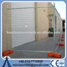 Tragbares Sicherheitszaunpaneel, temporäres Zaunset (Panel & Base & Clamp)