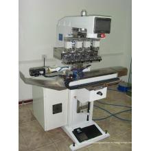 Sello tinta taza con impresora del cojín de 4 colores sistema de limpieza automático