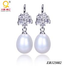 925 Sterling Silber Perle Ohrringe (BR125082)