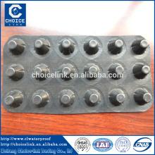 Placa de drenagem impermeável de membrana de alta resistência