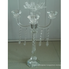 Crystal Candle Holder for Home Decoration with Five Posters