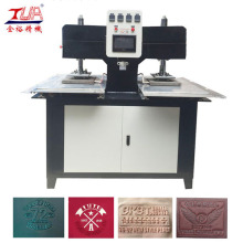 Two Workstation Embossing Logo Machine on T-shirt