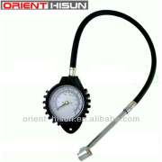 Heavy duty dial tire pressure gauge with hose,HS-6229