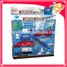 wholesale toys china die-cast airport play set pull back plane