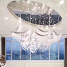 Ресторан на заказ, большой роскошный проект, современная светодиодная люстра