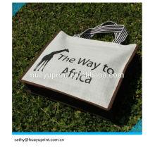 Luxo Customized Logo Jute saco, jute gunny sacos, sacos de juta por atacado