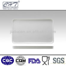 "13""/16""Rectangal bone china porcelain bakery trays"