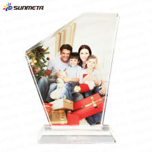Sunmet sublimação cristal photo frame lembrança presente troféu --- fabricante