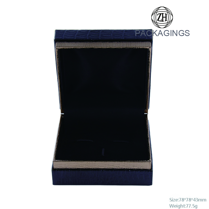 Wholesale pu leather folding cufflink box