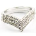 Fancy Sweet Heart Design Fashion Silver Ring for Women