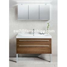 2013 Hot Sale Floor Standing Mirrored Bathroom Cabinet